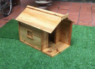 Nhà gỗ cho mèo có tính thẩm mỹ cao